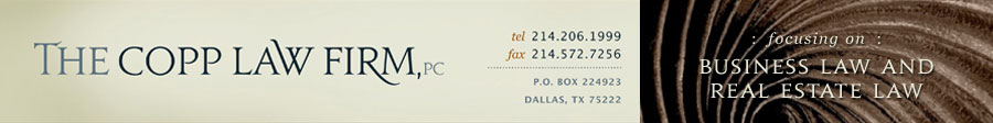The Copp Law Firm, PC - A Dallas Business & Real Estate Law Firm
