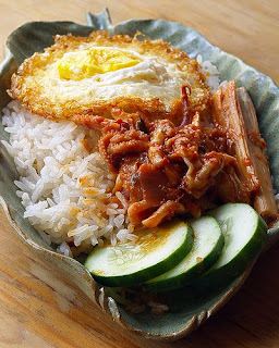 Rice Cooked Coconut Milk Recipe ( Resep Nasi Lemak)