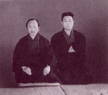 Simoda Takeshi junto a Gichin Funakshi.