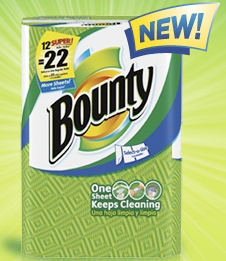 Picture+90 Free Bounty Paper Towel Sample
