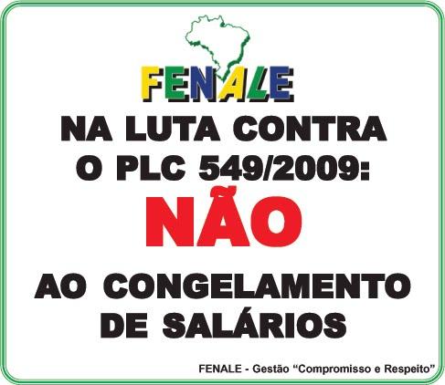 NÃO AO CONGELAMENTO DE SALÁRIOS