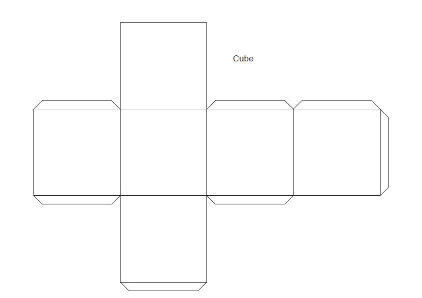 Dibujos Para Colorear Recortar y Armar Dibujos Para Colorear Cubo