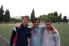 El trío conductor: Cisca (AC), Tonto (DT) y Fede (AC)