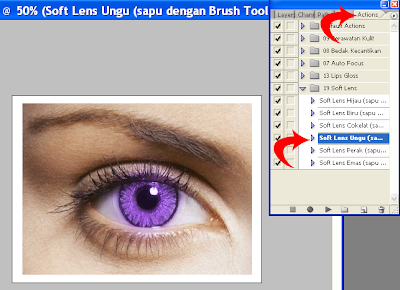 Cara Mewarnai Mata (Soft Lens) dengan Photoshop | Tutorials Download