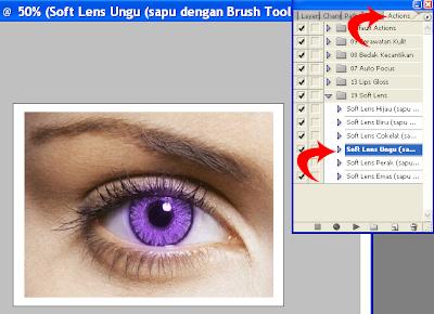 Tutorial dan Cara Mewarnai Mata (Soft Lens) dengan Photoshop