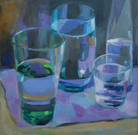 Daily paintings by elizabeth blaylock american for How to paint glass with oil paint