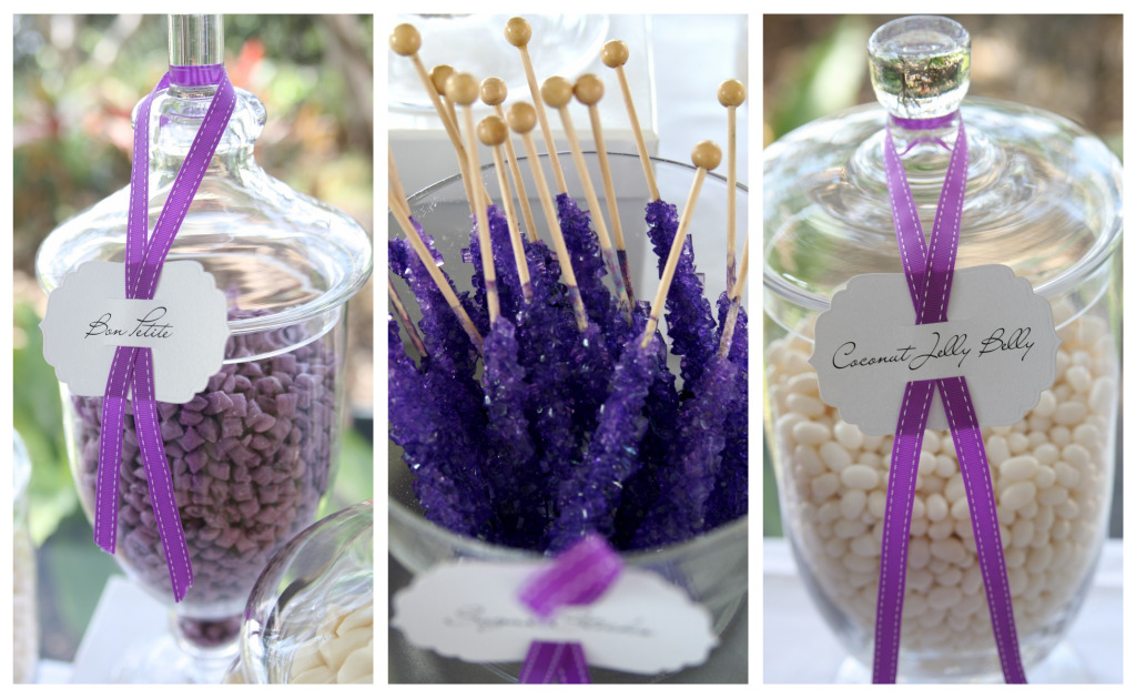 Purple And White Candy Table A Magical Wedding