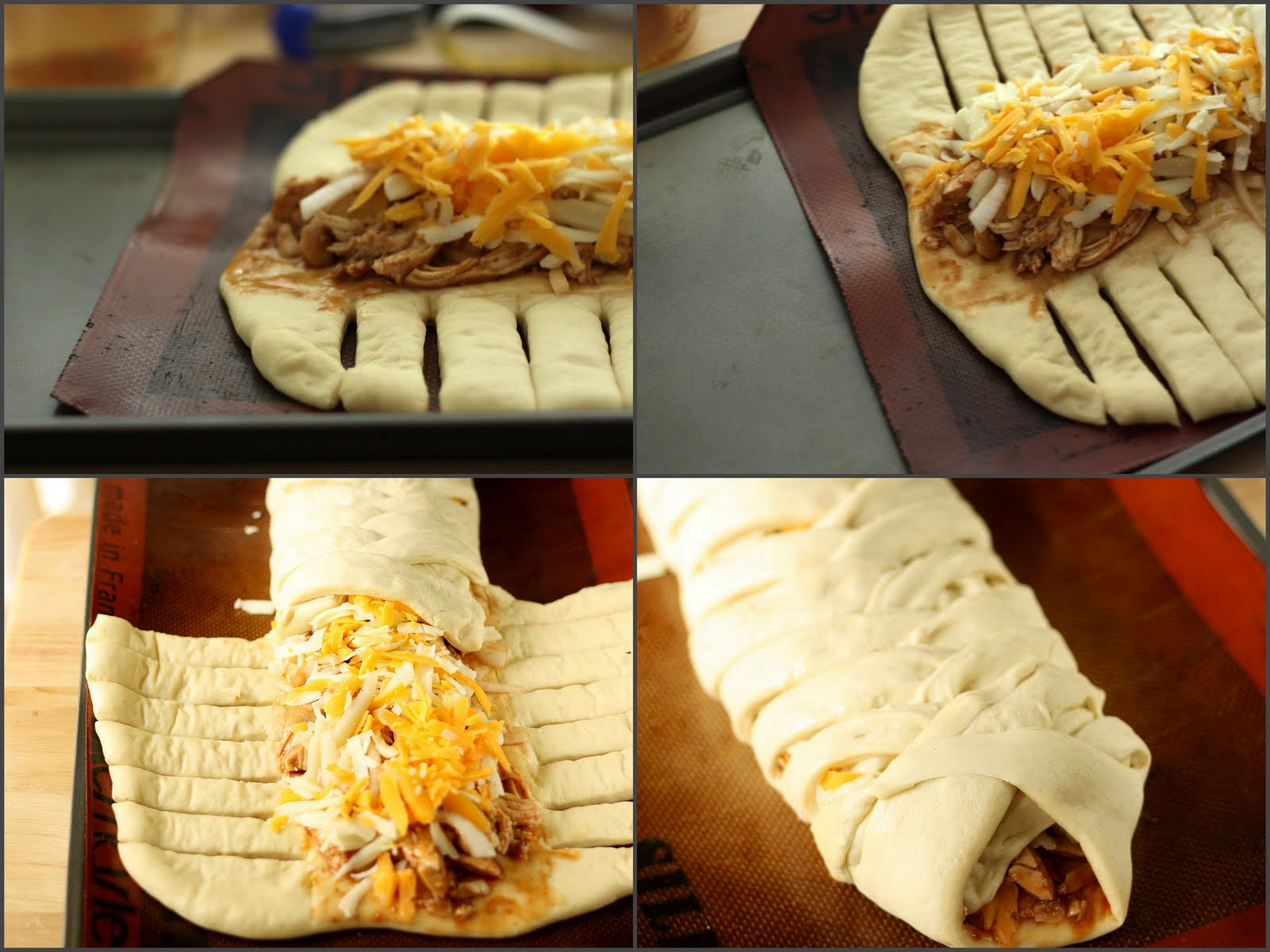 Barbecue Chicken Pizza Braid Recipe — Dishmaps
