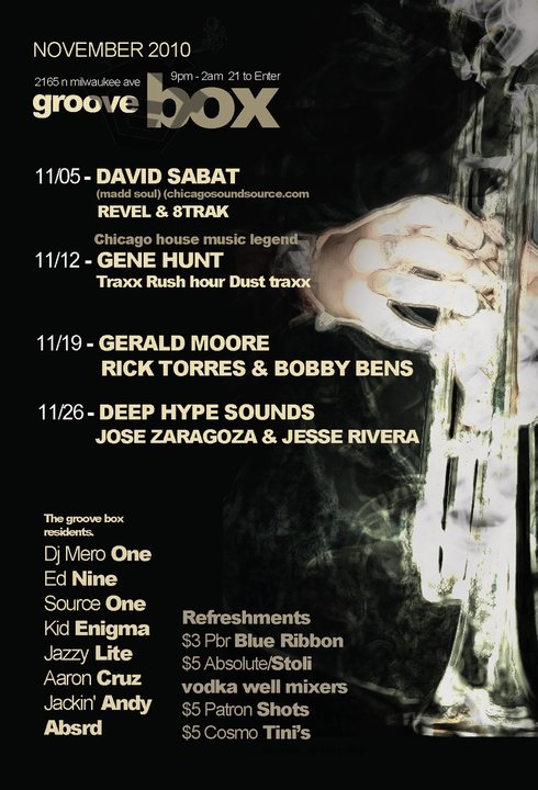 Groove box chicago chicago house music legend gene hunt for Groove house music