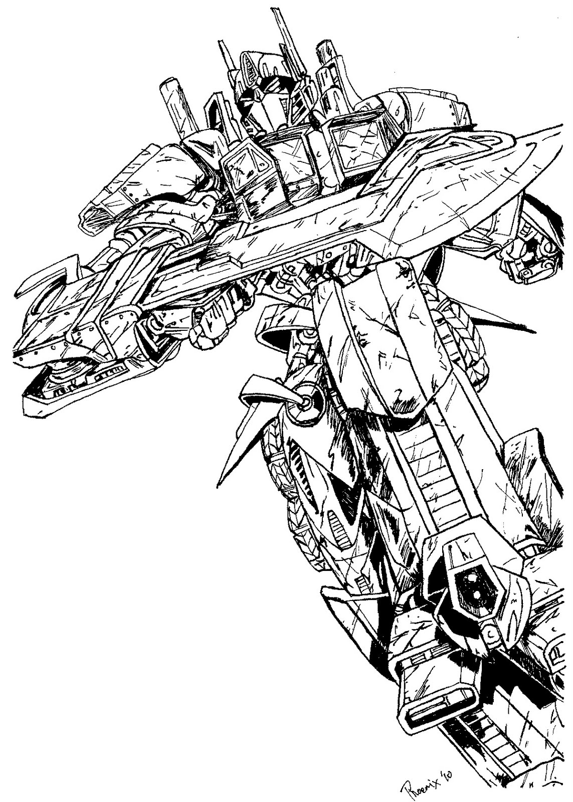 transformers sentinel prime coloring pages - energon optimus prime coloring pages