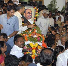 Andhra Pradesh chief minister Y S Rajasekhara Reddy was died