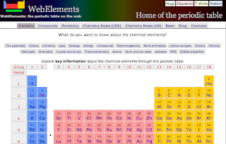 webelements periodic table