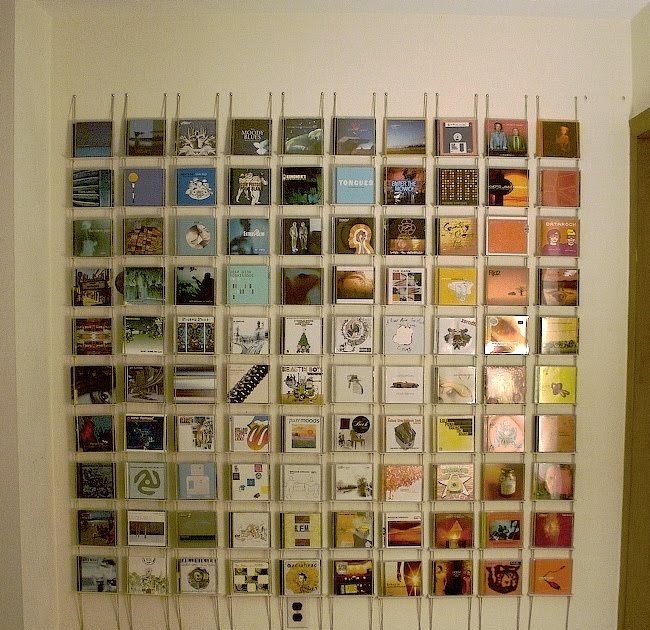 In a spot cd display unit for Cd mural wall display