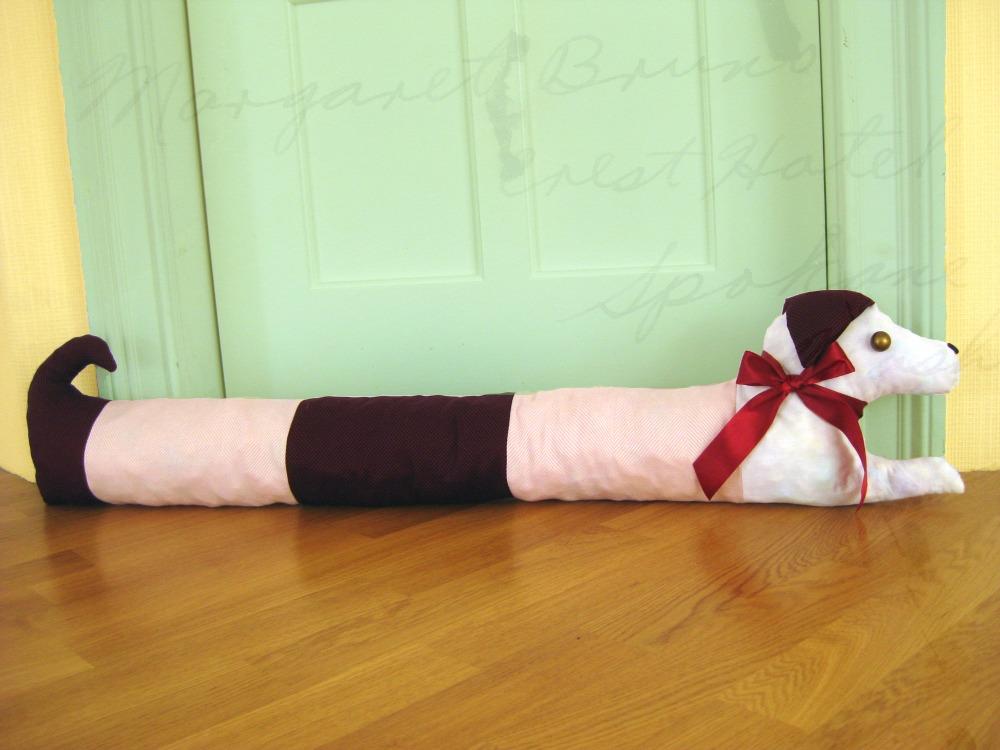 Wiener Dog Door Draft Pillow How To DIY Tutorial & Handmade by Viki: Wiener Dog Door Draft Pillow How To DIY Tutorial