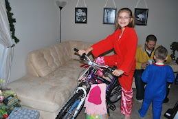 Michelle with her new bike.