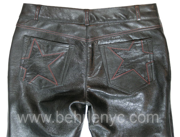 custom made men's leather jean