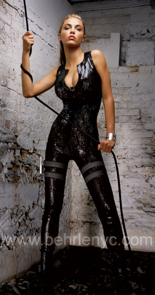 custom made patent leather catsuit