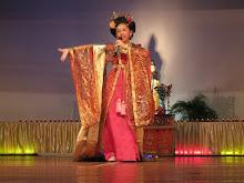 Dhamma schoolgirl singing a song