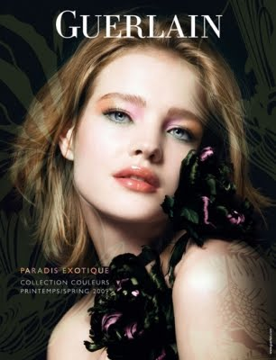 Before the Natalia Vodianova saga, Guerlain's prize make-up model was the