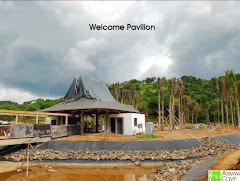 welcome pavillion under construction