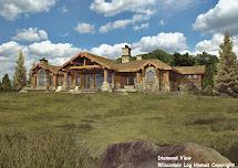 Single Story Log Homes