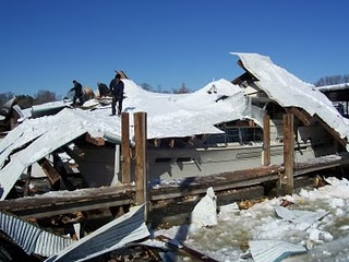 boat dock collapse