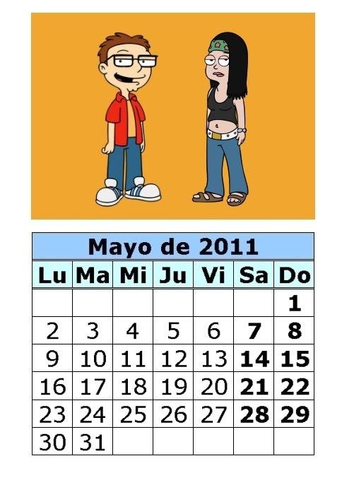 calendario 2011 mayo. Calendario de American Dad de