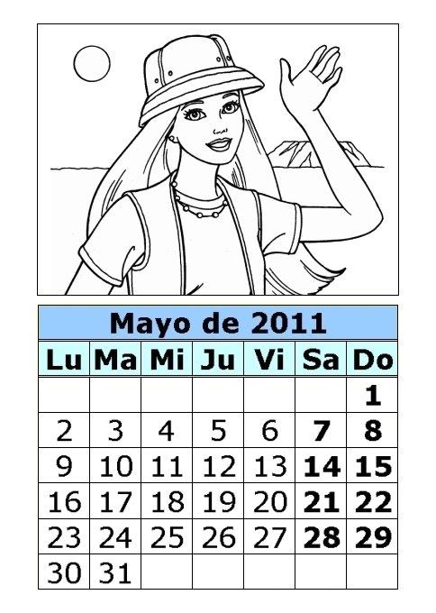calendario 2011 mayo. Calendario de la Barbie para