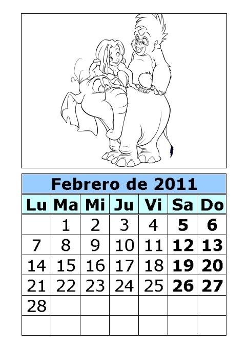 Calendario de Tarzán para