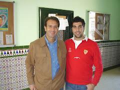 Con Ángel Gámiz