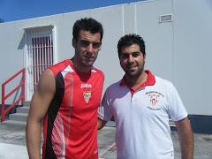 Con Álvaro Negredo