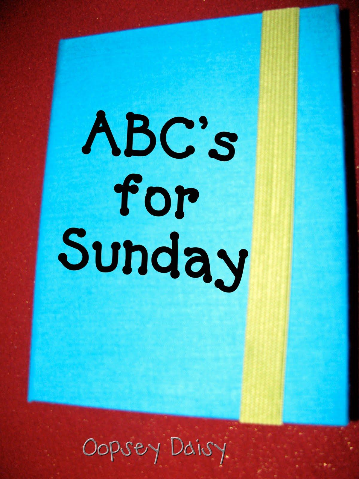 Abc scrapbook ideas list - Sunday Abc Book