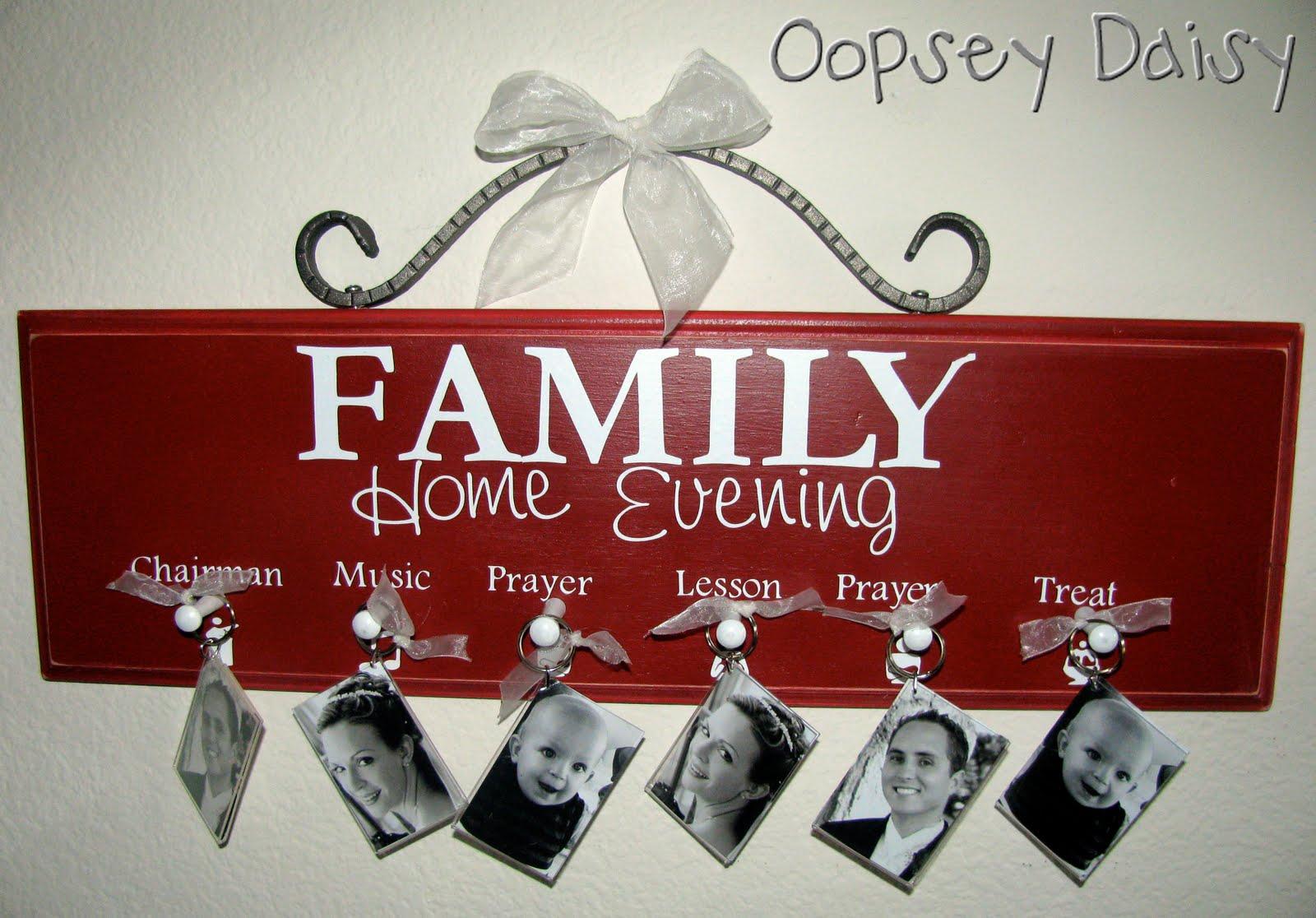 Fhe chart finally oopsey daisy for Idea door family home evening