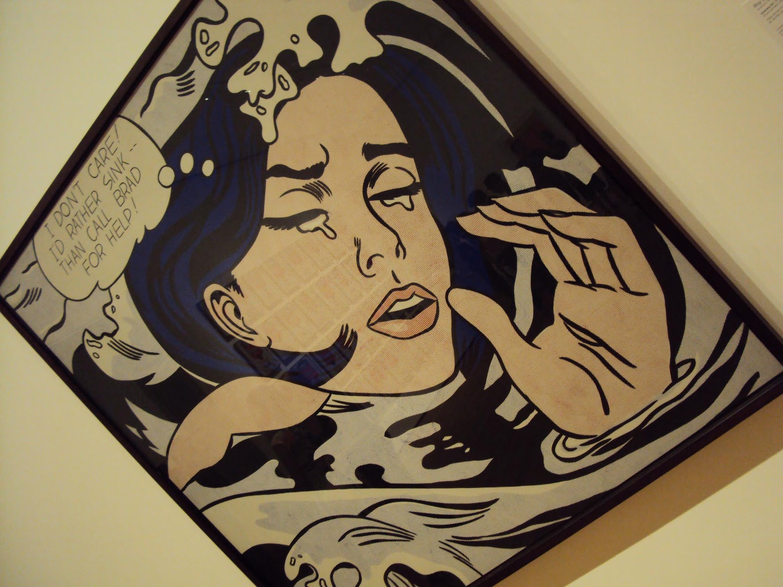 drowning girl roy lichtenstein This matted print features a reproduction of roy lichtenstein's work drowning girl (1963), from moma's collection this reproduction is printed using state-of-the-art printing technology and materials.