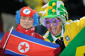 Brazil North Korea fans