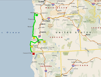 Southern Oregon Coast Map Pictures To Pin On Pinterest