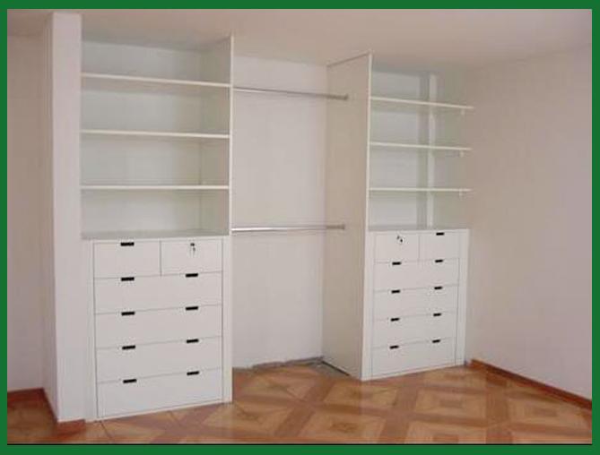 Muebles decoratiba adolfo ibarra v closet en melamina for Modelos de zapateras de melamina
