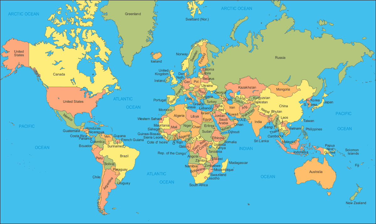 Countries Of The World By Alphabetical Order My Blog Combo - Us map alphabetical order