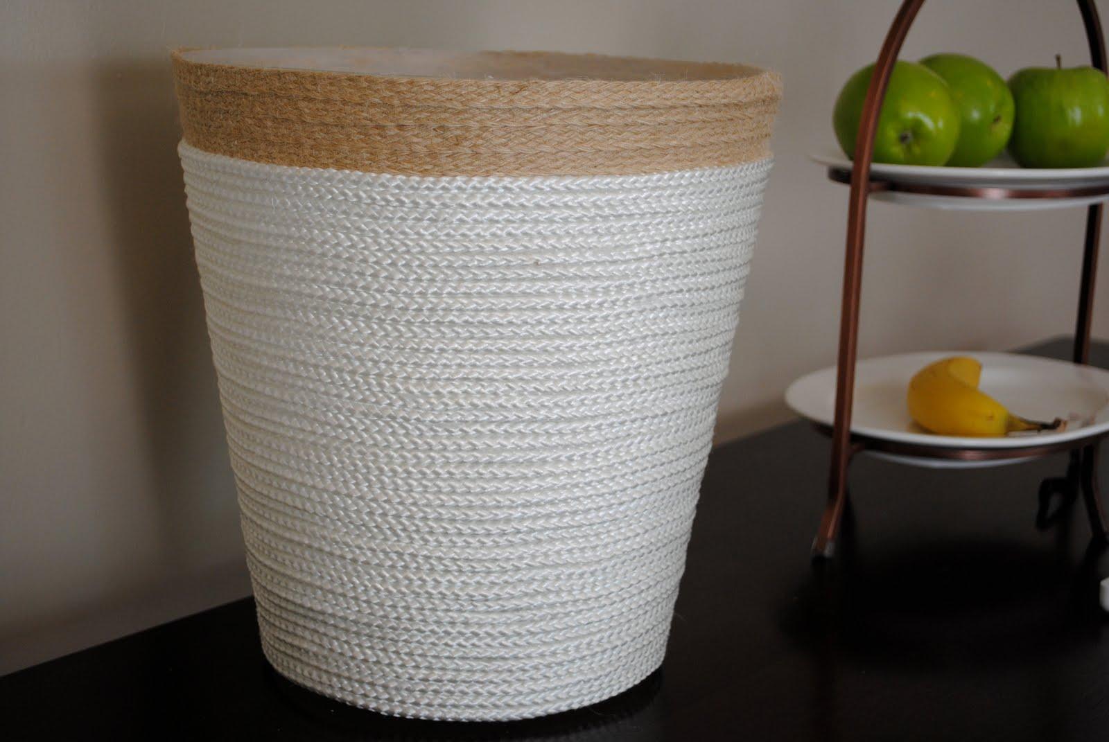 nautical rope trash can tutorial