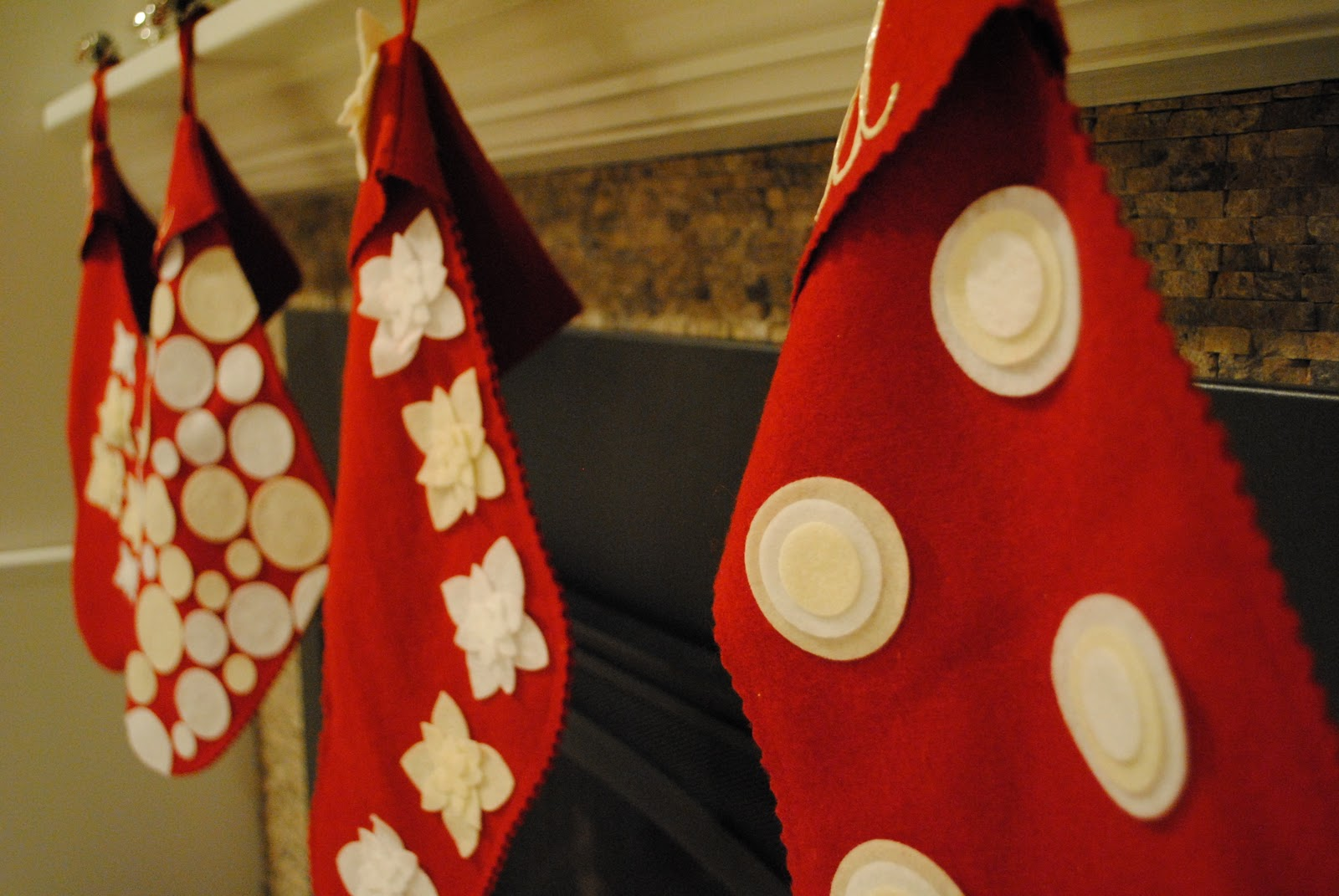 Semi Homemade Felt Christmas Stockings Making Lemonade