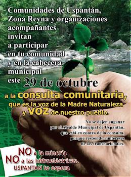 CONSULTA COMUNITARIA DE BUENA FE, USPANTÁN, ZONA REINA