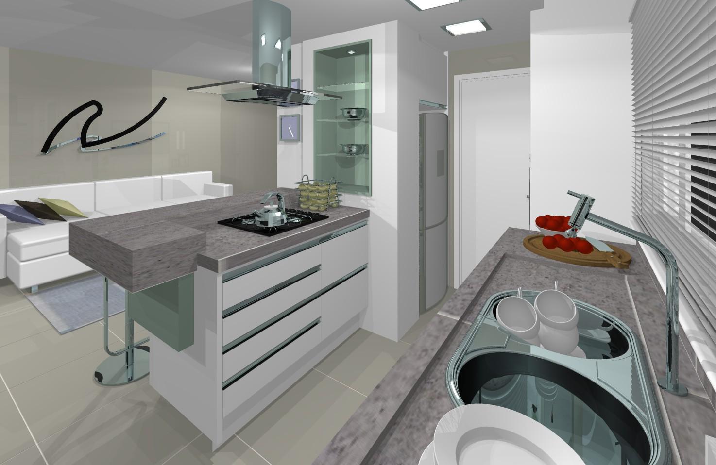 design de interiores: cozinha integrada #643C2C 1474 958