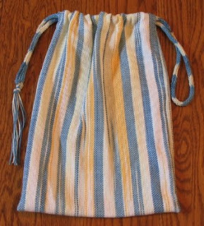 Diddy bag from a space dyed warp.