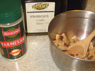 Simple ingredients for simple croutons