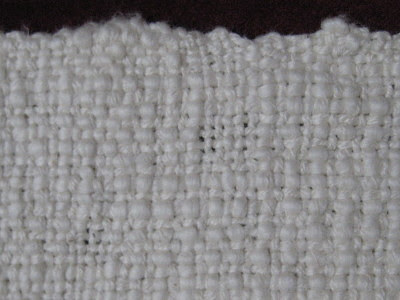 Close-up of shawl texture