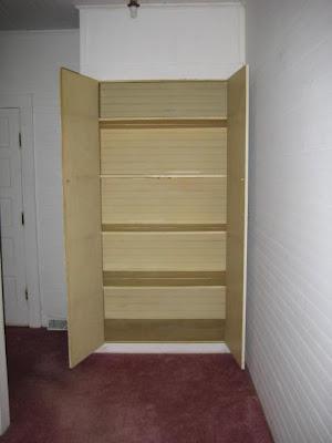 Nice deep linen closet