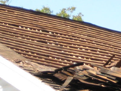 A little closer look at what was under the shingles.