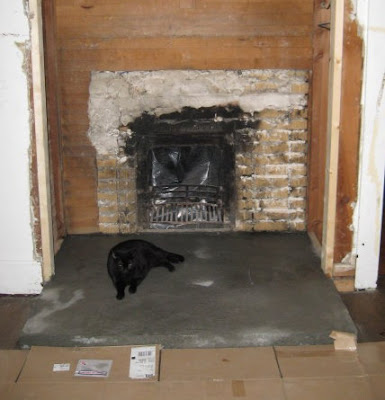 New hearth slab is cat inspected & approved