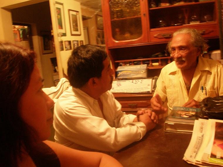 Con el Poeta Leoncio Bueno