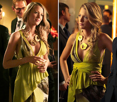 Blake Lively Green Dress on Serena Van Der Woodsen  Blake Lively